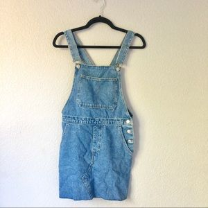 Denim Overall Dress from TopShop